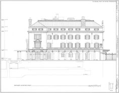 Kykuit, the Rockefeller Estate - Historic Hudson Valley - SouthWest Elevation