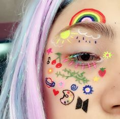 Image discovered by ਏਓ. Find images and videos about aesthetic and makeup on We Heart It - the app to get lost in what you love. Bts Makeup, Indie Makeup, Edgy Makeup, Makeup Inspo, Makeup Inspiration, Cute Makeup Looks, Makeup Eye Looks, Eye Makeup Art, Pretty Makeup