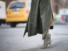 NYFW Day Two: Olivia Palermo wearing Olivia Palermo x Aquazzura booties