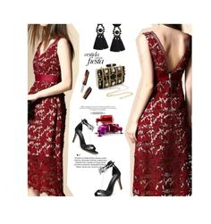"""Party dress"" by stellina-from-the-italian-glam ❤ liked on Polyvore"