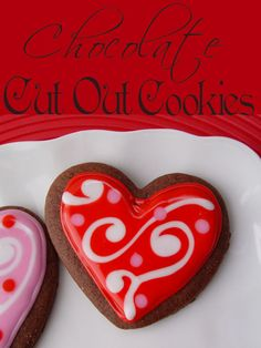 Chocolate Cut Out Cookies with Glaze Icing from Jamie Cooks It Up! #cookies #valentinesdayrecipes #jamiecooksitup