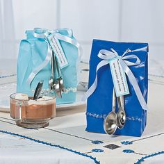 Hot Chocolate Favor Bag Idea - OrientalTrading.com Use clear bags for hot choc mug gifts