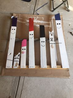 Snowman family pallet in progress