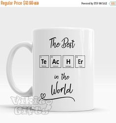 Teacher gift diy 44332377562852531 - Weekend SALE Chemistry Teacher Mug The Best teacher in the World Gift for teacher Coffee mug Unique gift for favorite teacher chemist Source by printsfinds Teacher Cards, Teacher Thank You, Your Teacher, Best Teacher, Teachers Day Gifts, Science Teacher Gifts, Presents For Teachers, Teachers Day Card Design, Diy Presents