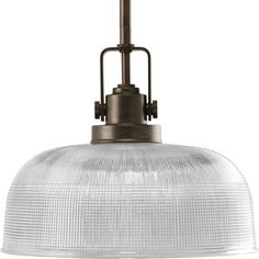 """View the Progress Lighting P5026-74 Venetian Bronze Archie 1 Light Pendant with Prismatic Glass Shade - 9"""" Tall at Build.com."""