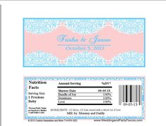 Baby Shower Lace Candy Bar Wrappers BDAY 5534 WP