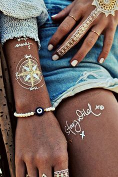 10. ACCESSORY FROM ENDLESS SUMMER CONTEST BOARD---LOVE these!!!! Flash Tattoos Wanderlust >> Shop now on stillandsea.com