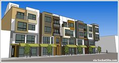 Rendering Elevation Mixed Use