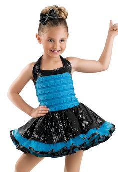 Eva Dance costume 2013 Ruffle Bodice with Sequin Skirt; Weissman Costumes