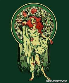 Zombie Nouveau  http://www.levelupstudios.com/zombie-nouveau    http://society6.com/meganlara/Zombie-Nouveau_Print