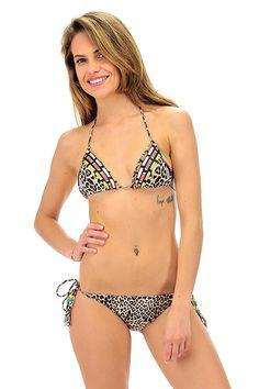 4giveness - Costumi da bagno - Abbigliamento - Costume da bagno a triangolo con brasiliana con stampa a fantasia. La nostra modella indossa la taglia /EU S. - ENTIC - € 50.00
