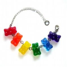 I wish there was a blue gunny bear. Cute Jewelry, Jewelry Accessories, Resin Charms, Monster High Dolls, Gummy Bears, Kandi, Pandora Jewelry, Jewelery, Bling
