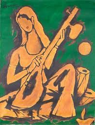 According to M F Hussain, the love of Meerabai for Lord Krishna was the true artistic love beyond body and soul.#artquotes