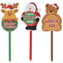 "Bulk Christmas Scene Glittery Wooden Yard Signs, 24"" at DollarTree.com"