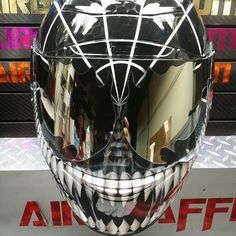 Riding in style with a sweet custom painted motorcycle helmet is somewhat of a fun game to play. You can show off your fun side, crazy side, or just add some style (and paint) to your helmet to make it a one-of-a-kind masterpiece; your helmet. You will defiantly be inspired by this collection of Custom …