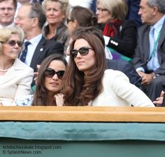 Duchess Kate and Pippa, Wimbledon 2012 Princess Kate, Princess Charlotte, Duchess Kate, Duchess Of Cambridge, Kate And Pippa, Military Women, Pippa Middleton, William Kate, Fashion Essentials