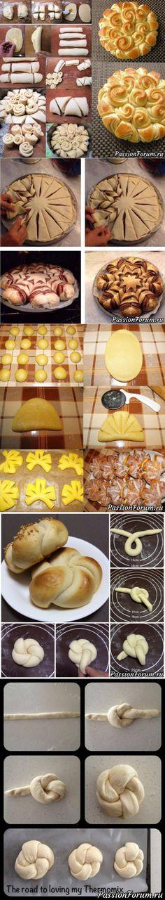 Красивые булочки. Подборка креативной разделки теста