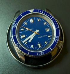 Seiko modded in blue