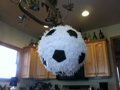 pinata ideas | soccer ball pinata-Ryan's 8th Bday :) | Pinata ideas