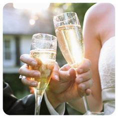 Table toasting: Where the bride and groom walk around to each table and toast with the guests at that particular table. Everyone gets recognized at the wedding and everyone has a chance to talk to the bride and groom without seeking them out.