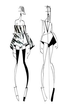 Fashion sketches book sketchbooks ideas for 2019 Fashion Sketchbook, Sketchbook Drawings, Illustration Mode, Fashion Illustration Sketches, Fashion Sketches, Design Illustrations, Silhouette Mode, Figure Sketching, Fashion Design Drawings