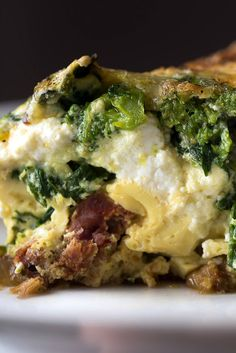 This is a substantial baked frittata that feeds a small crowd. Filled with spicy Italian sausage, flavorful greens and four kinds of cheese, it tastes best at room temperature, and it's perfect for a weekend late breakfast or any time of day. (Photo: Karsten Moran for The New York Times)