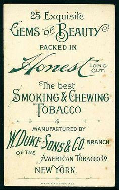 Tobacco Card Back - Duke's