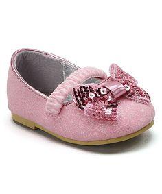 Light Pink Bow Flat
