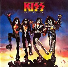The released album cover for KISS Destroyer in 1976. Another album cover was thought to be too controversial at the time.