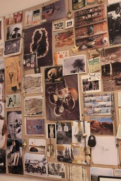 Inspiration board at Pamela Love's Studio