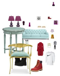 """""""My 2017 Living Room"""" by mishaart ❤ liked on Polyvore featuring interior, interiors, interior design, home, home decor, interior decorating, Wendover Art Group, Magnolia Home, Safavieh and Timberland"""