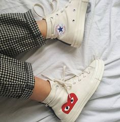 Sneaker Love Nordstrom - Comme des Garcons PLAY x Converse Chuck Taylo. Sneaker Love Nordstrom - Comme des Garcons PLAY x Converse Chuck Taylor(R) Hidden Heart High Top Sneaker - converse hi tops - converse high tops - white high top sneakers Converse Haute, Mode Converse, Sneakers Mode, Outfits With Converse, Sneakers Fashion, Converse Sneakers, High Top Converse Outfits, Vans, Cool Converse High Tops