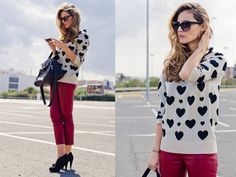 street style red pants - Buscar con Google