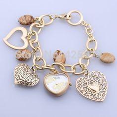 2 pcs Quartz Heart Dial Golden Bracelet Wrist Watch Wristwatch Charms Model on Chiq $22.86 : Buy Trends on CHIQ.COM http://www.chiq.com/chenkelistore/2-pcs-quartz-heart-dial-golden-bracelet-wrist-watch-wristwatch-charms-model