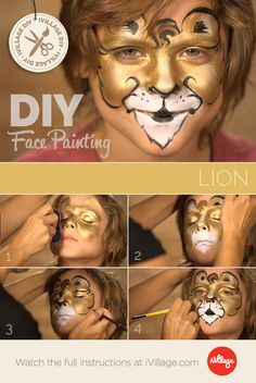 Roar! How to Do Lion Face Paint for Kids http://www.ivillage.com/lion-face-paint-kids/6-a-549097