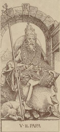 Arcane V : Le Pape - Le Tarot d'Albrecht Dürer.