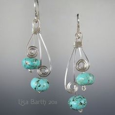 silver scrolls and turquoise