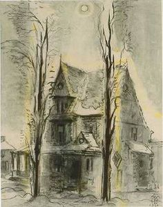 'Winter Sun' by Charles Burchfield, 1961 (watercolor, gouache, charcoal and pastel on paper laid down on paperboard) House Painting, Painting & Drawing, Watercolor Paintings, Local Art Galleries, Winter Sun, Art Auction, Gouache, American Art, All Art