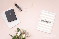 Check out Styled iPad mockup - PSD + JPEG by White Hart Design Studio on Creative Market