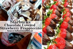 Covered Strawberry Frappuccino Treat yourself with a Starbucks Chocolate Covered Strawberry Frappuccino!Treat yourself with a Starbucks Chocolate Covered Strawberry Frappuccino! Strawberry Frappuccino Recipe, Starbucks Strawberry, Starbucks Specials, Starbucks Secret Menu Drinks, Chocolate Covered Bananas, Starbucks Frappuccino, Starbucks Coffee, Coffee Recipes, Drink Recipes