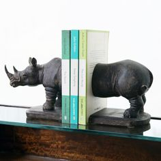Can we find Rhino book ends in Canada? Oh how I enjoy Graham and Green's site.