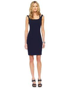 MICHAEL Michael Kors Split-Strap Dress, work to dinner - pair with tan blazer for work