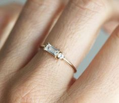 Baguette Diamond Ring Baguette engagement Ring Baguette