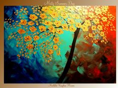 'Misty Summer Day' painting by Nicolette Vaughan Horner