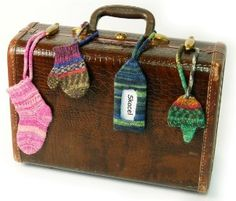 Cute Knitted luggage tags