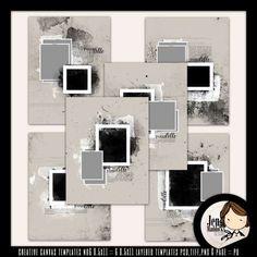 Digital Art :: Templates :: Creative Canvas Templates No6 8.5x11