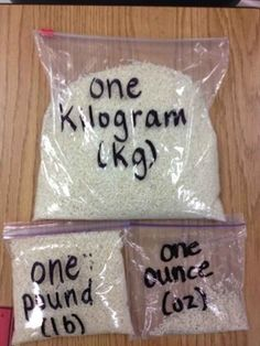 And rice to teach relative weights. | 31 Clever And Inexpensive Ideas For Teaching Your Child At Home