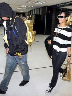 Rihanna & Chris: Through the Years - Us Weekly Rihanna Love, Rihanna Hairstyles, Celebrity News, Style Me, Bae, Classy, Street Style, Denim, Celebrities
