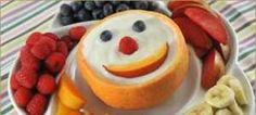 This Maple Yogurt Fruit Dip is easy to make: Ingredients cup organic plain yogurt 2 tablespoons maple syrup teaspoon pure vanilla extract Directions Mix all ingredients together in a bowl and serve. Cute Food, Good Food, Yummy Food, Delicious Desserts, Healthy Kids, Healthy Snacks, Kid Snacks, Healthy Eating, Kid Friendly Meals