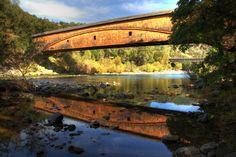 Historic Landmarks in California -- Nevada County -- Bridgeport Covered Bridge (built 1862)
